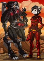 Ikrisia and Amethyst by kitfox-crimson