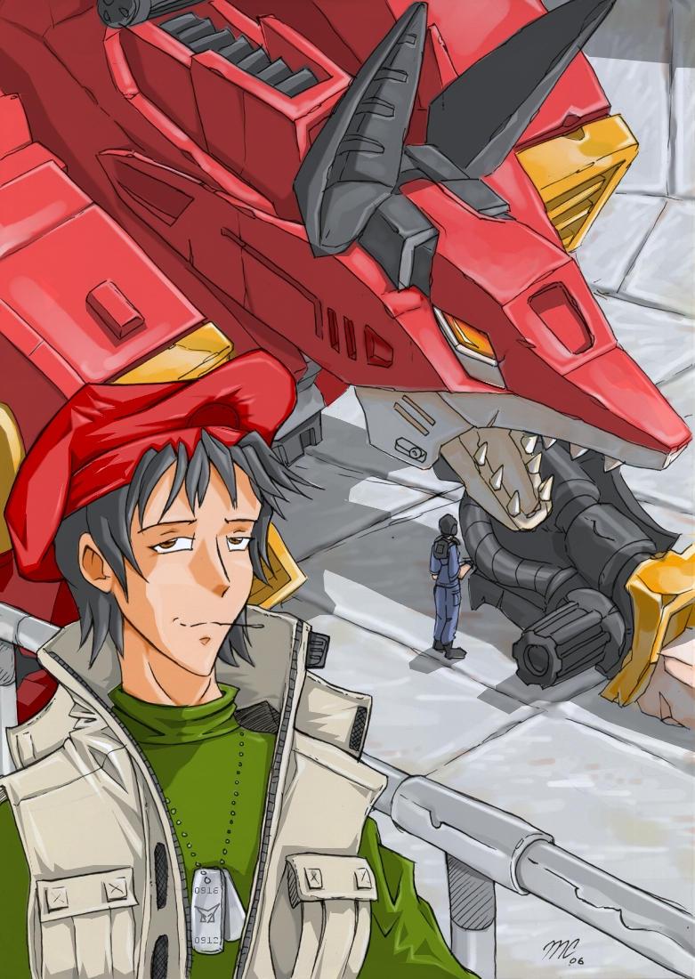 Zoids fancharacter Vincent by kitfox-crimson