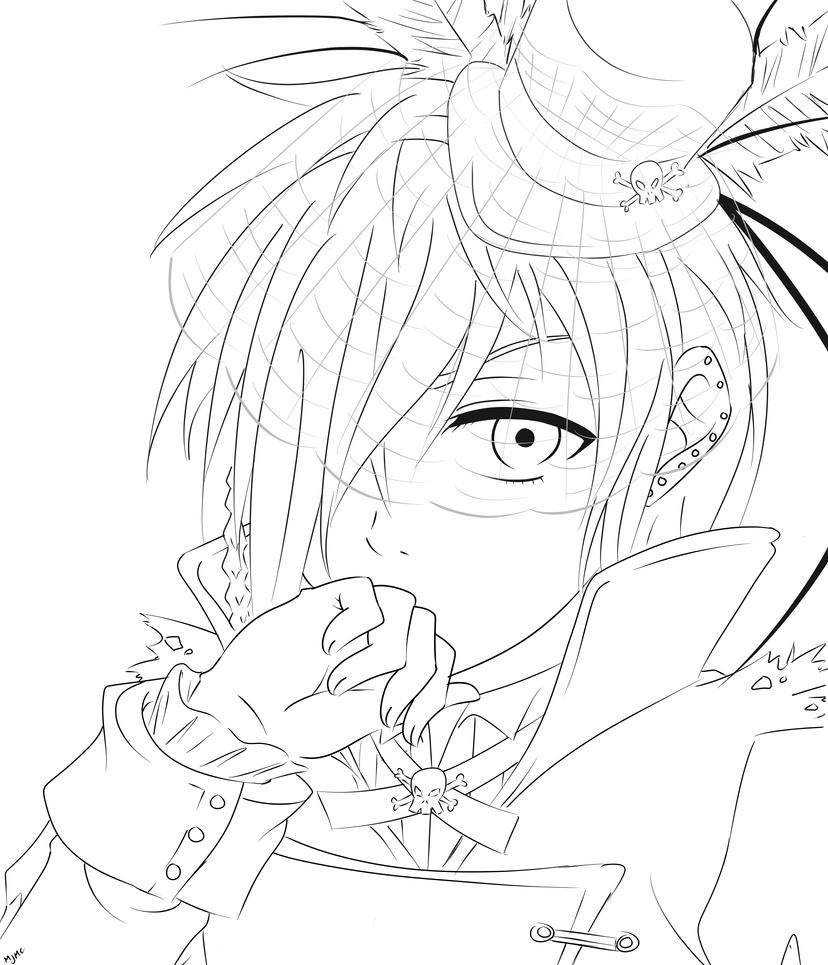 undertaker black butler coloring pages pony e chibi undertaker - Black Butler Chibi Coloring Pages