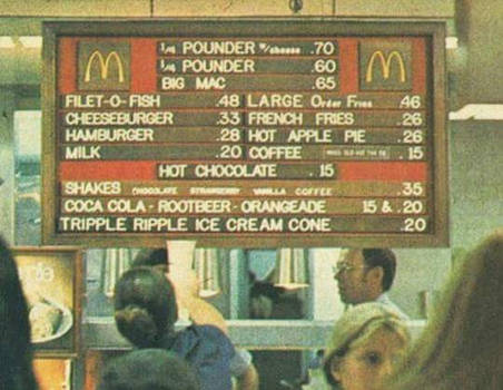 Trends of the times...70's..McDonald's...