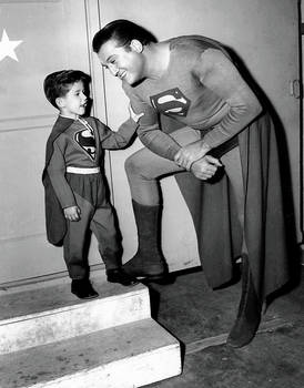 Superman and Little Ricky....