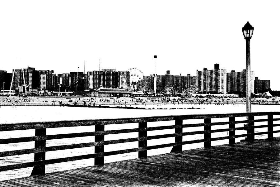 Coney Island Pier by lesley-oldaker