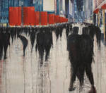 Together we are many, 200x180cm, oil o