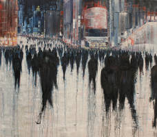 Follow Me, 200x180cm, oil on canvas, 2013 by lesley-oldaker