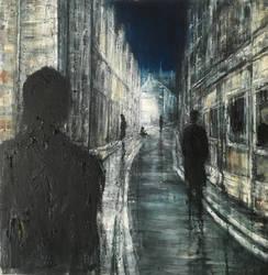 Alone at Night, 72x73cm, ooc, 2015