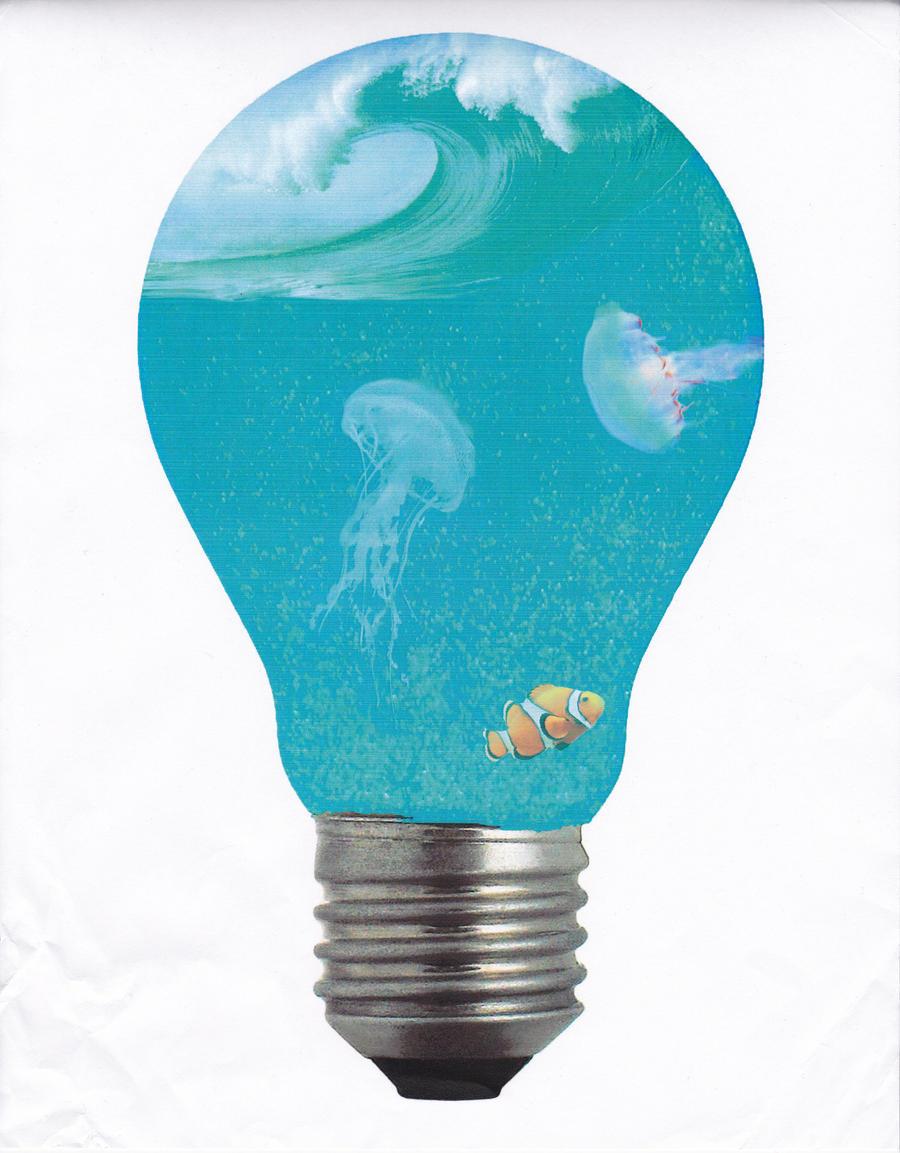 Light Bulb Photo Manipulation Photomanipulation Bulb Water