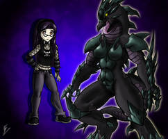 Profile - Tish Carroll and Draconic Beast by Sephzero