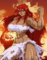 Hot Girl Blazing Fist - DesingAHV by Sephzero