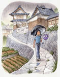 'Rainy Day in Fukuyama'