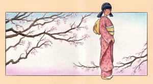 Akiko in a Kimono
