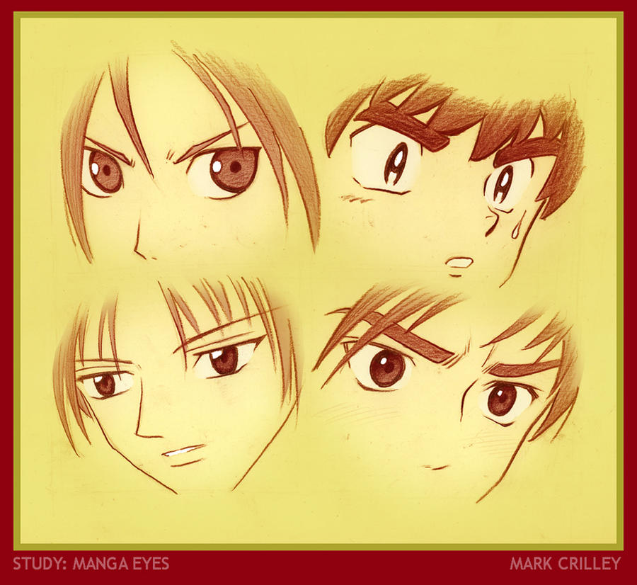 Study of Manga Eyes by markcrilley