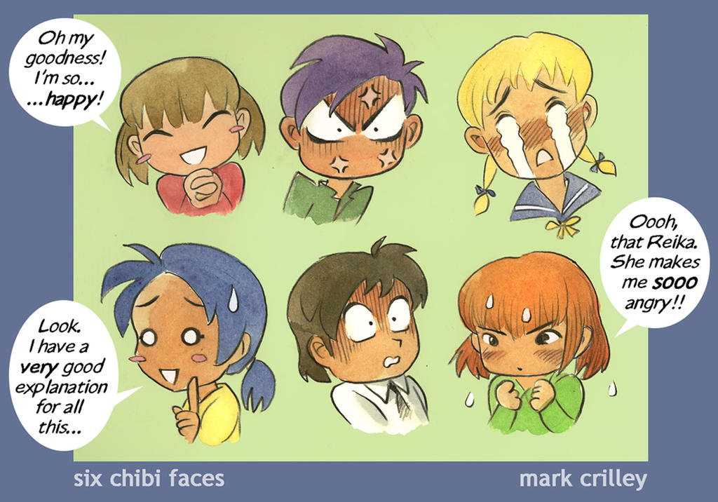 Six Chibi Faces By Markcrilley On DeviantArt