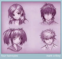 Four Hairstyles by markcrilley