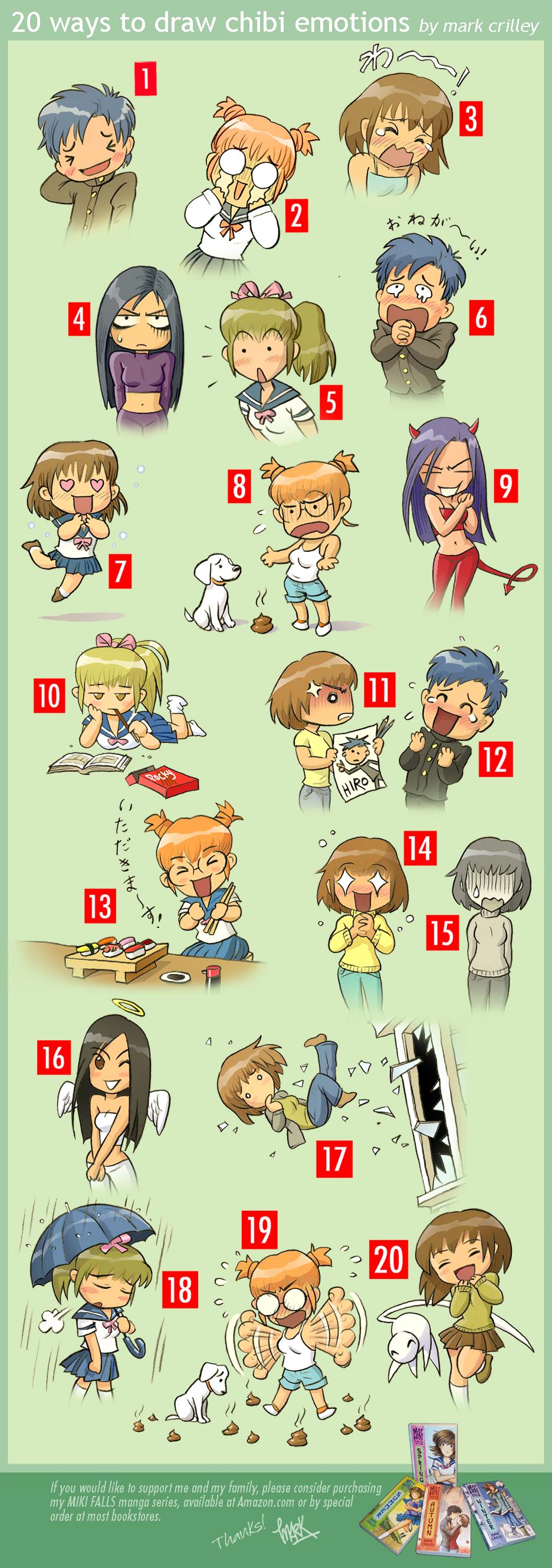 20 Ways to Draw Chibi Emotions by markcrilley