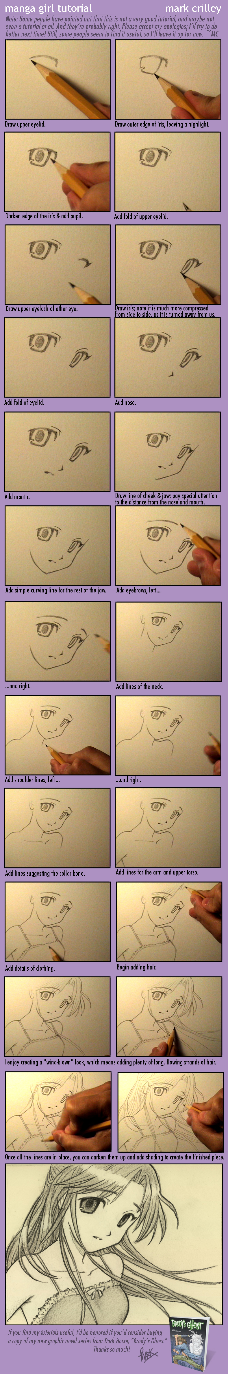Manga Girl Tutorial by markcrilley