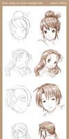 4 Ways to Draw Manga Hair by markcrilley