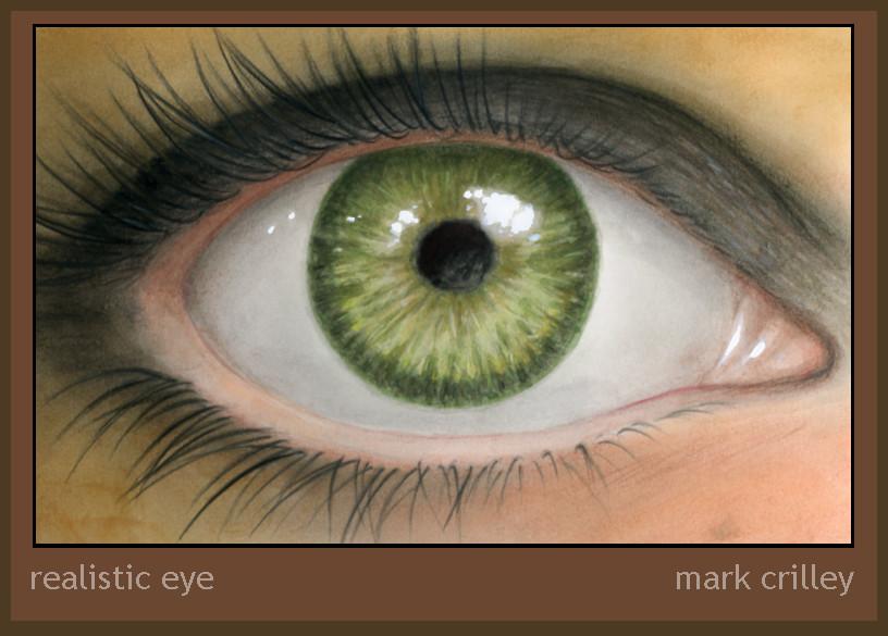 Realistic Eye Illustration by markcrilley