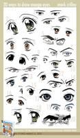 20 Ways to Draw Manga Eyes