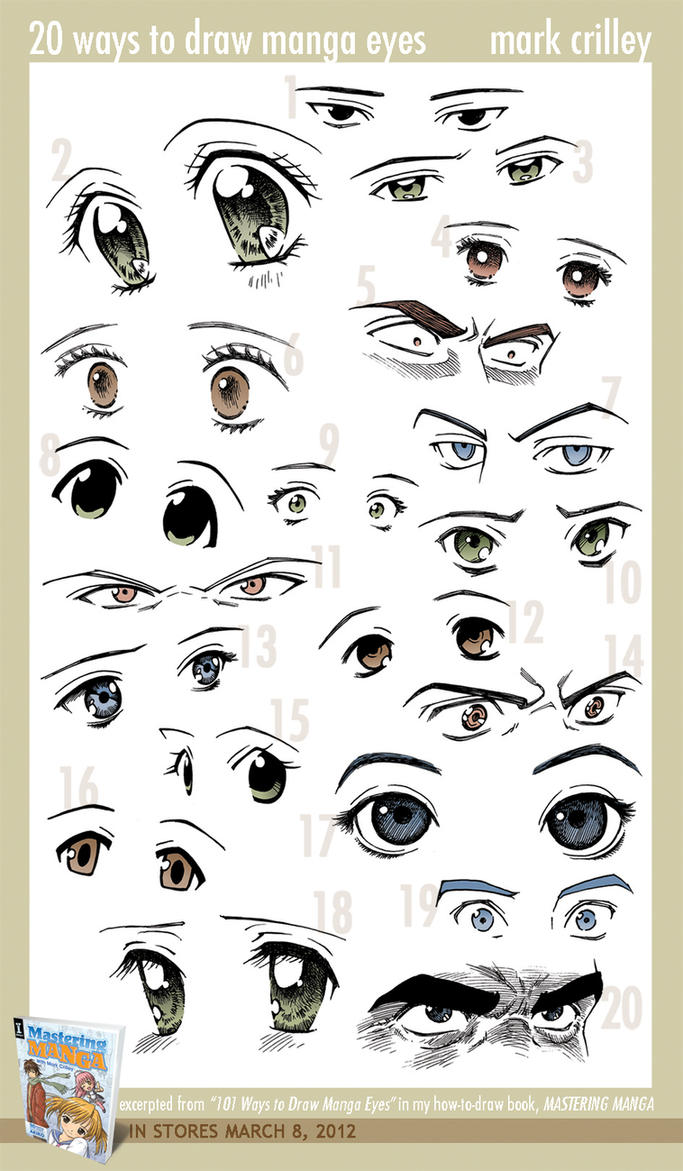 20 ways to draw manga eyes by markcrilley on deviantart 20 ways to draw manga eyes by markcrilley ccuart Gallery
