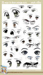 20 Ways to Draw Manga Eyes