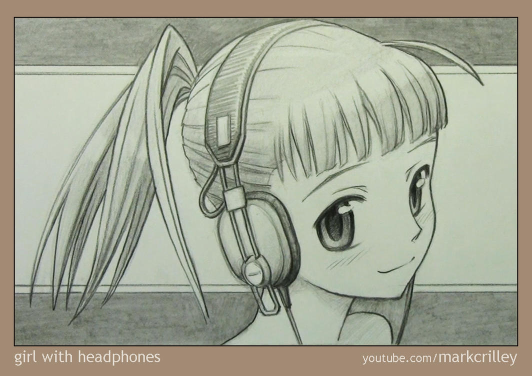 Girl with Headphones by markcrilley