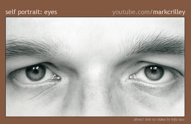 Pencil Self Portrait: Eyes by markcrilley