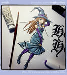 Witch Illustration from my YouTube Video