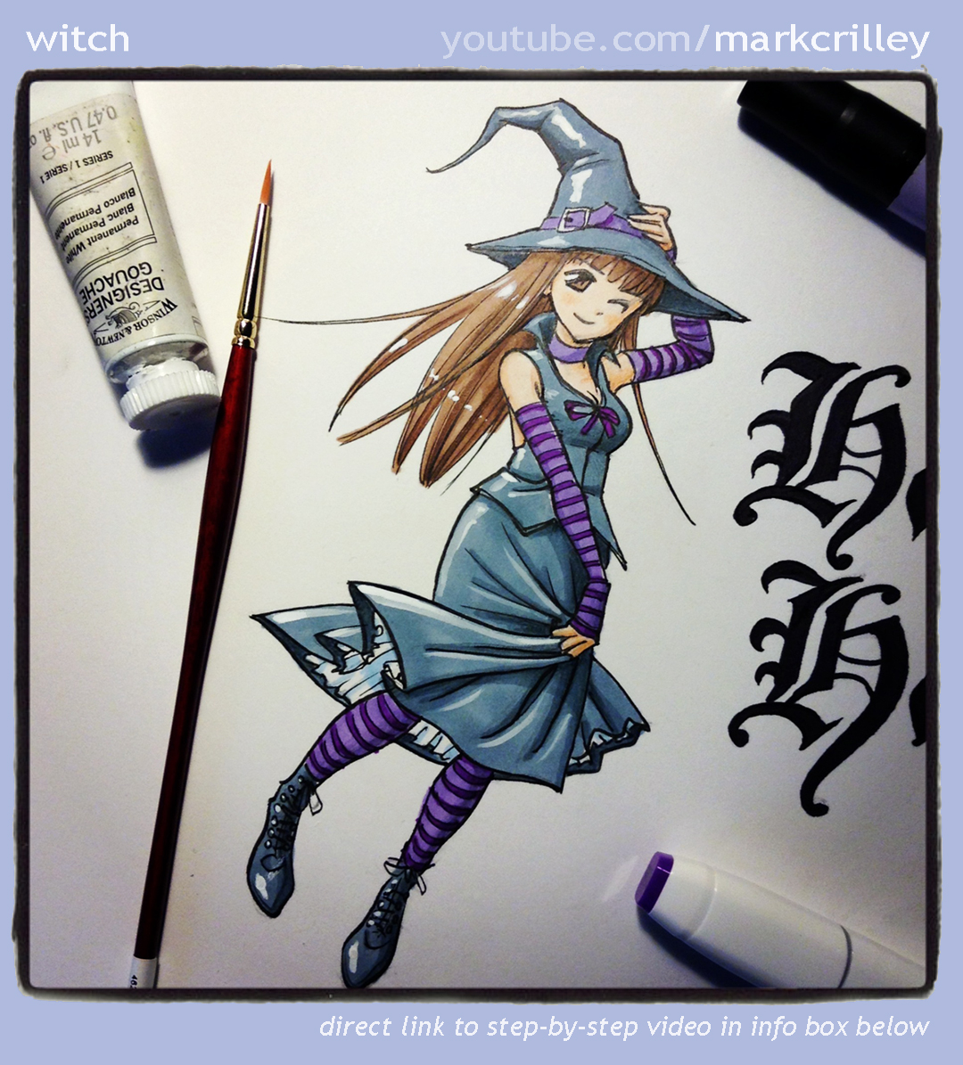 Witch Illustration from my YouTube Video by markcrilley