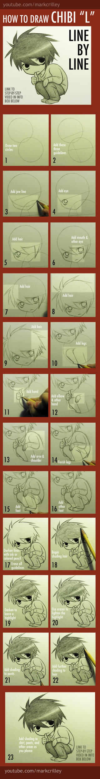 How to Draw Chibi L from Death Note by markcrilley
