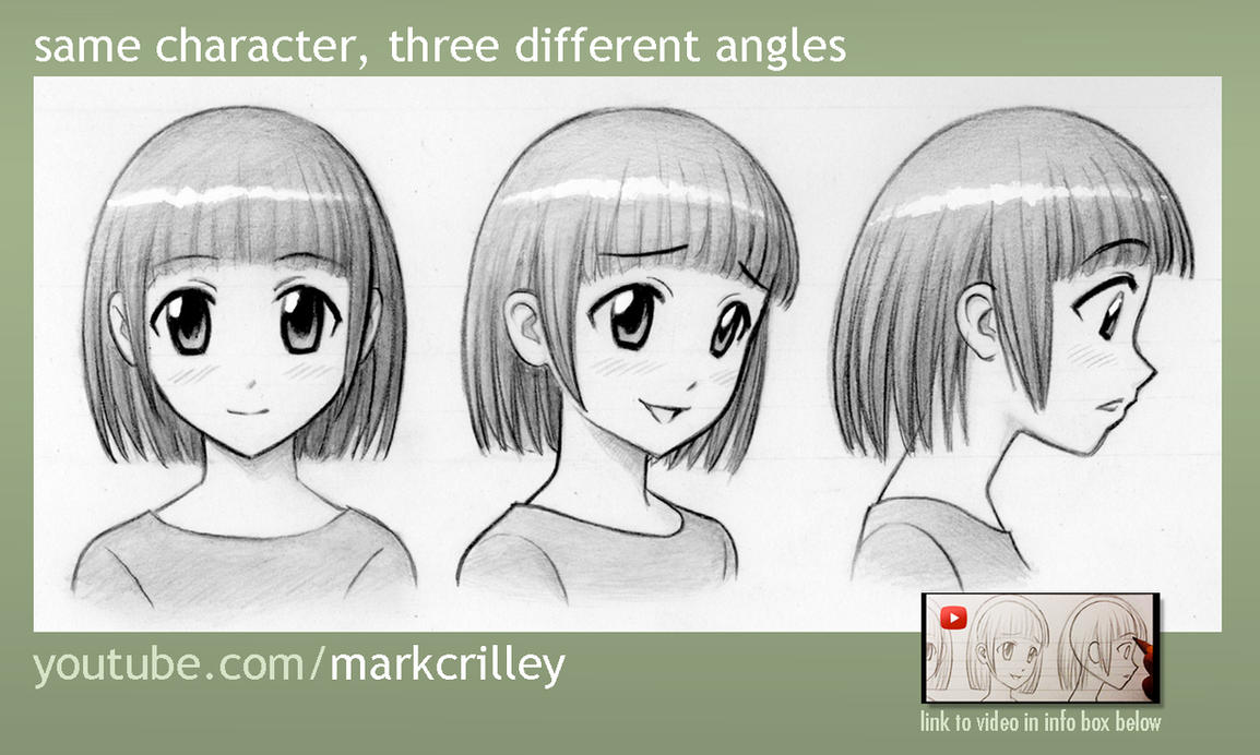 Same Character 3 Different Angles by markcrilley