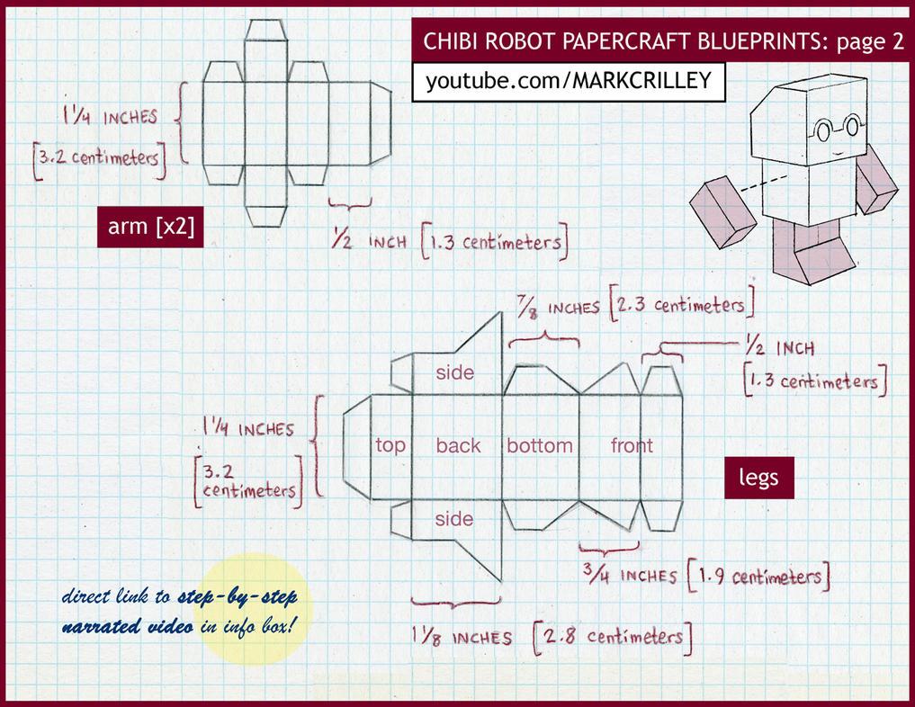 Chibi robot papercraft blue print 2 by markcrilley on deviantart chibi robot papercraft blue print 2 by markcrilley malvernweather Choice Image
