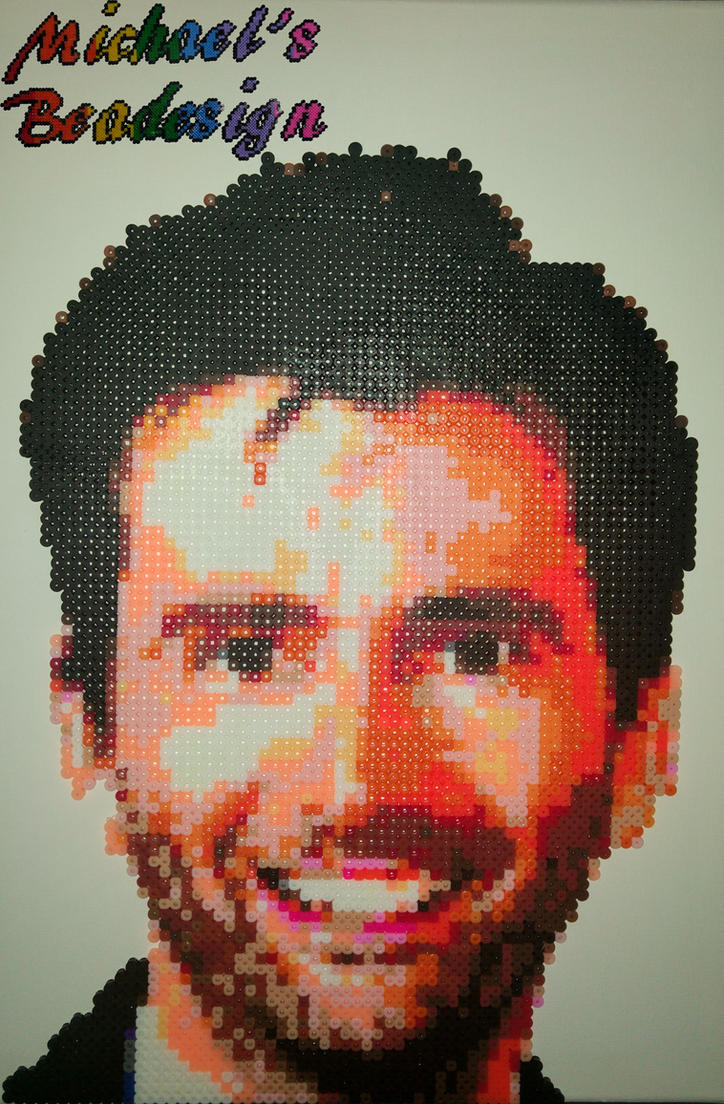 David Tennant portrait- from fuse beads! by Bead-design