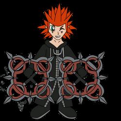 Chibi Axel - Kingdom Hearts by xelaalex