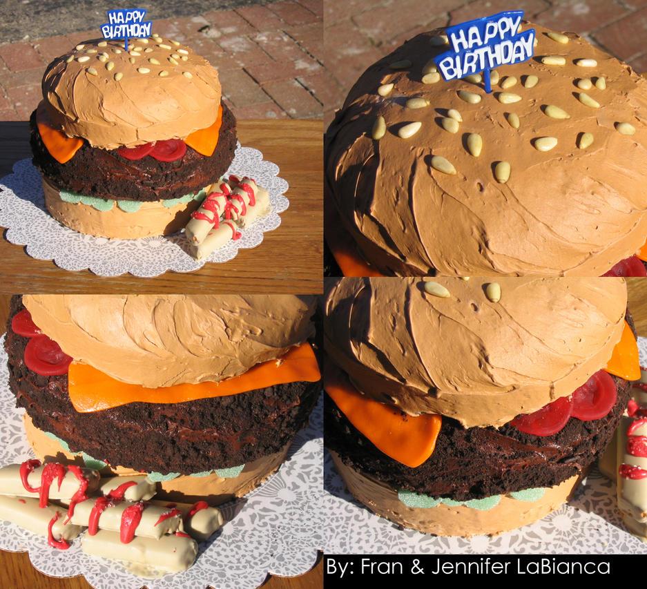 Cake Burger by SaintGem