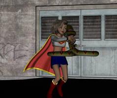 Supergirl vs Kaa by Hypnovideo