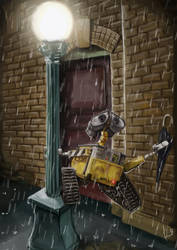 Wall E Sing'in in the Rain