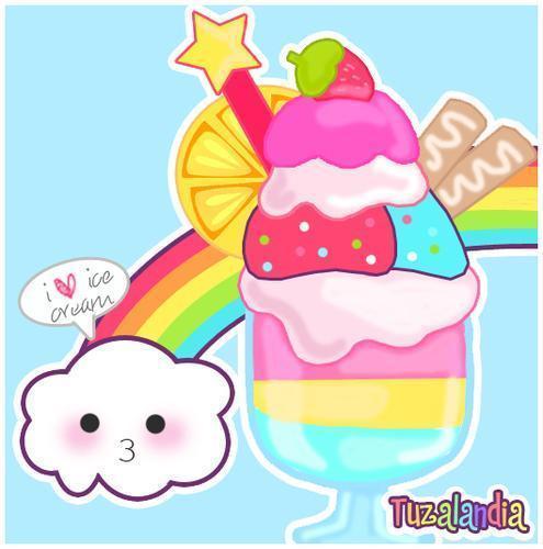 ice cream mega delicio rainbow by lovetheglamour on DeviantArt