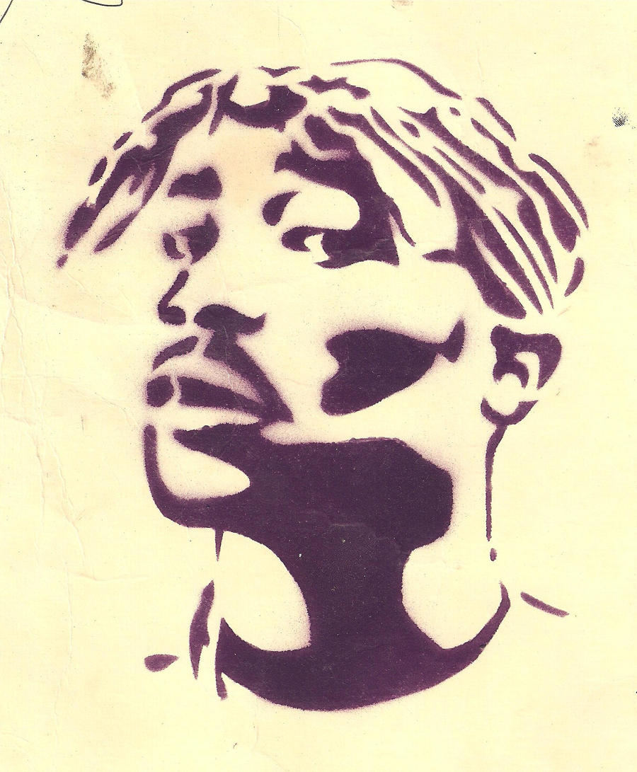 the gallery for gt tupac stencil