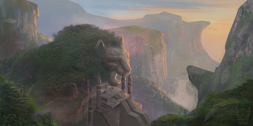 The Lion Temple by jpcorredor