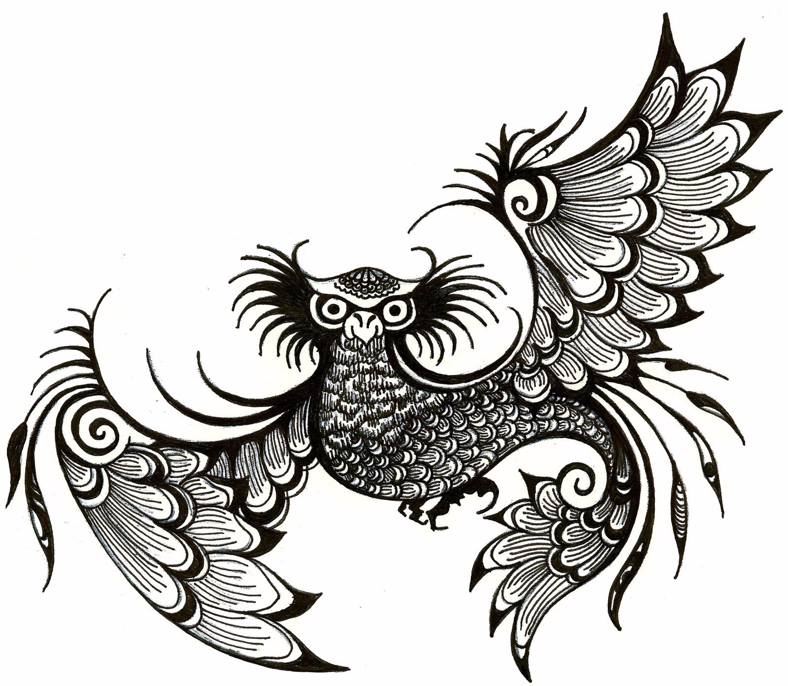 Easy Owl Henna Designs Makedes Com