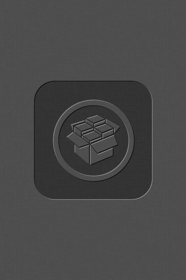 ios5 cydia wallpaper dark grey center by kokaine on