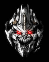 Movie Megatron Head in Color by channandeller