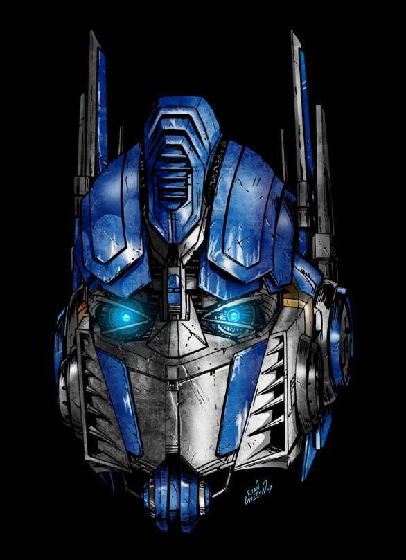 Movie Optimus Prime   Colour By Channandeller ...