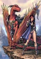 Kailyn dragonrider-print color by channandeller