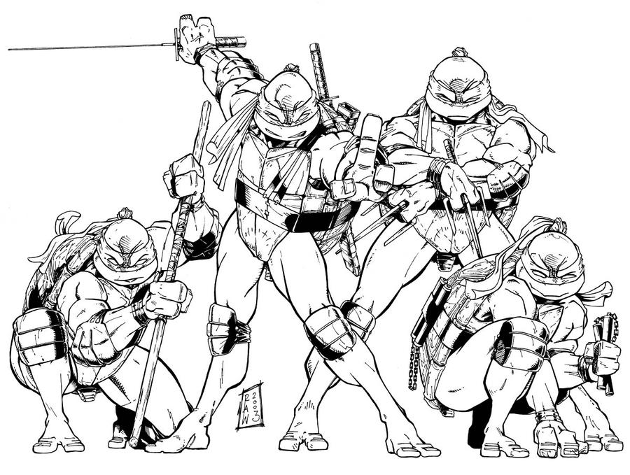 Tmnt 2003 coloring pages ~ TMNT - 2003 work by channandeller on DeviantArt