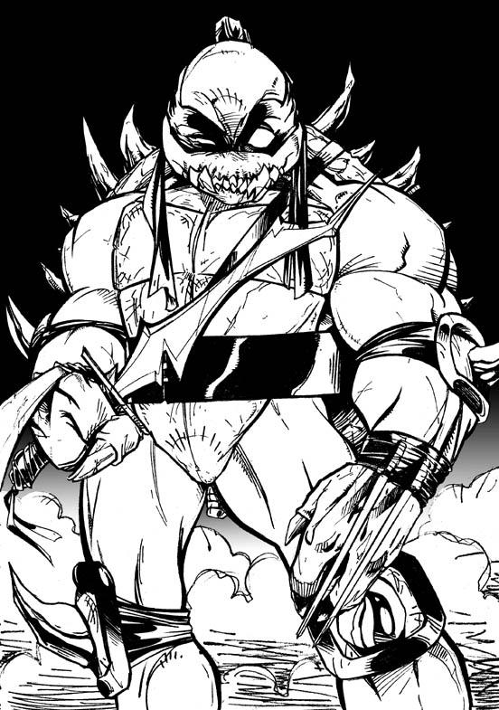 Tmnt 2003 coloring pages ~ TMNT - Slash by channandeller on DeviantArt