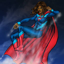 Power Woman Takes Flight by channandeller