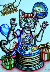Birthday Girl Kitten Greeting Card