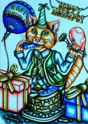 Birthday Boy Kitten Greeting Card