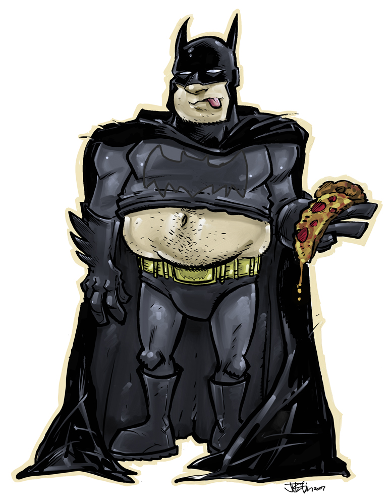 Fat Batman By JustinPeterson On DeviantArt